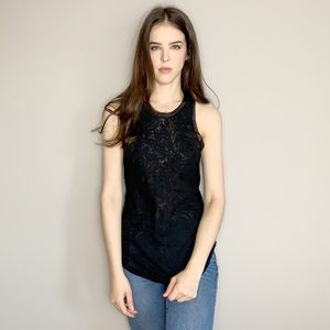 💋 SALE Wilfred xs lace racer back tank top